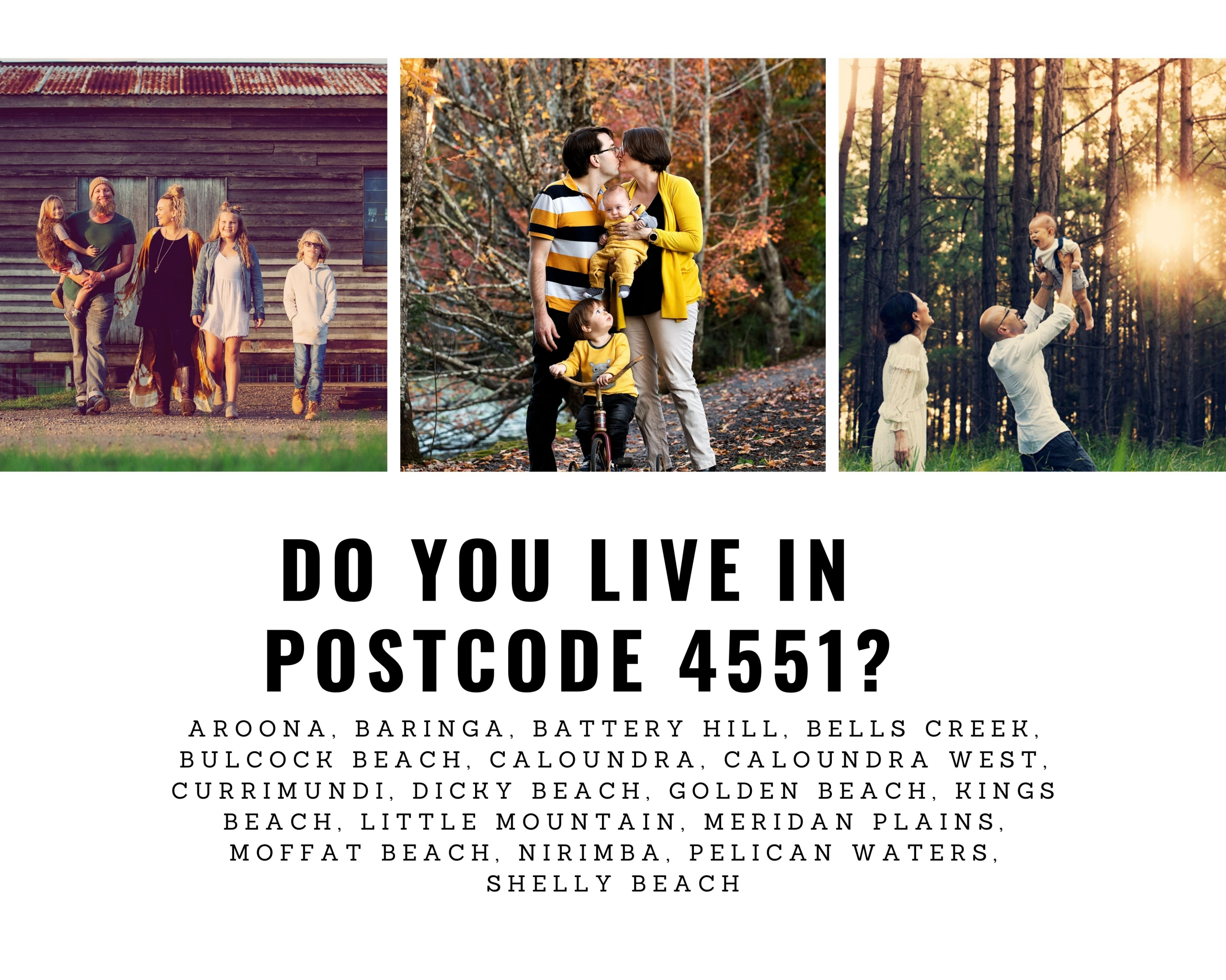 Do you live in Postcode 4551?